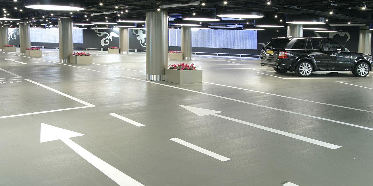 Полы для внутренних паркингов