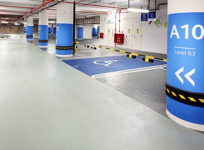 Наливные полы для внутренних паркингов