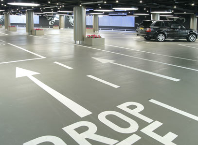 Полы для паркингов, автосалонов, СТО