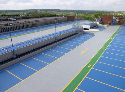 Наливные полы для открытых площадок и паркингов